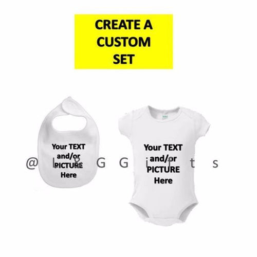 Bib and Bodysuit Baby Gift Set - L&G Gifts and Goodies