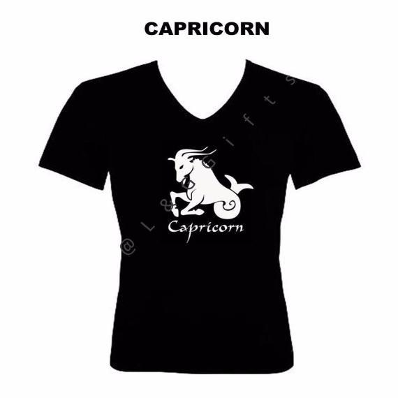 Capricorn Zodiac Sign Tshirt - L&G Gifts and Goodies