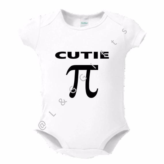 Cutie Pi Symbol Romper or Toddler Tshirt - L&G Gifts and Goodies