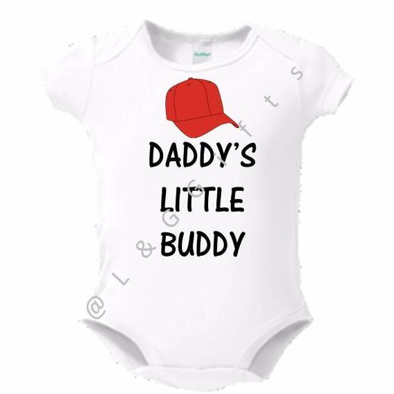 Daddy's Little Buddy Bodysuit or Toddler T shirt - L&G Gifts and Goodies