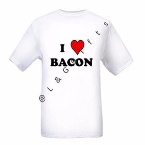 I heart Bacon Tshirt - L&G Gifts and Goodies