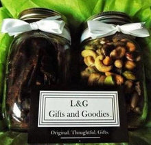 Beef Jerky and Artisan Nut Set - L&G Gifts and Goodies