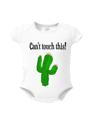 Cant touch this Cactus Baby Bodysuit - L&G Gifts and Goodies