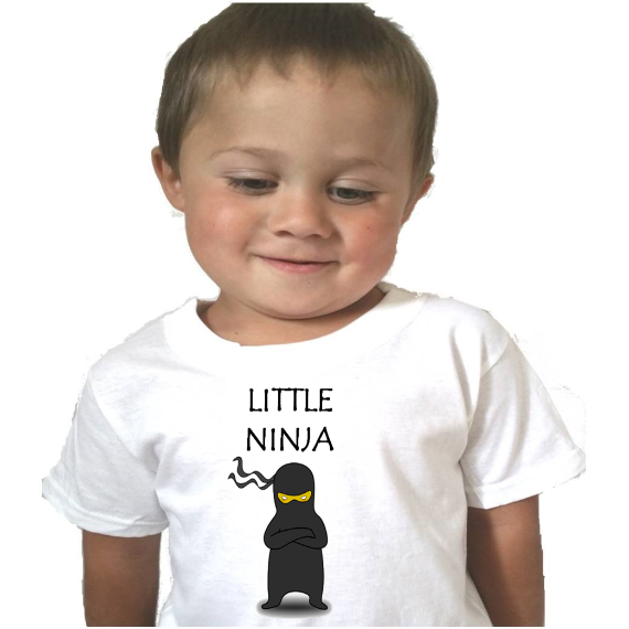 Little Ninja Baby Bodysuit or Toddler Tshirt - L&G Gifts and Goodies