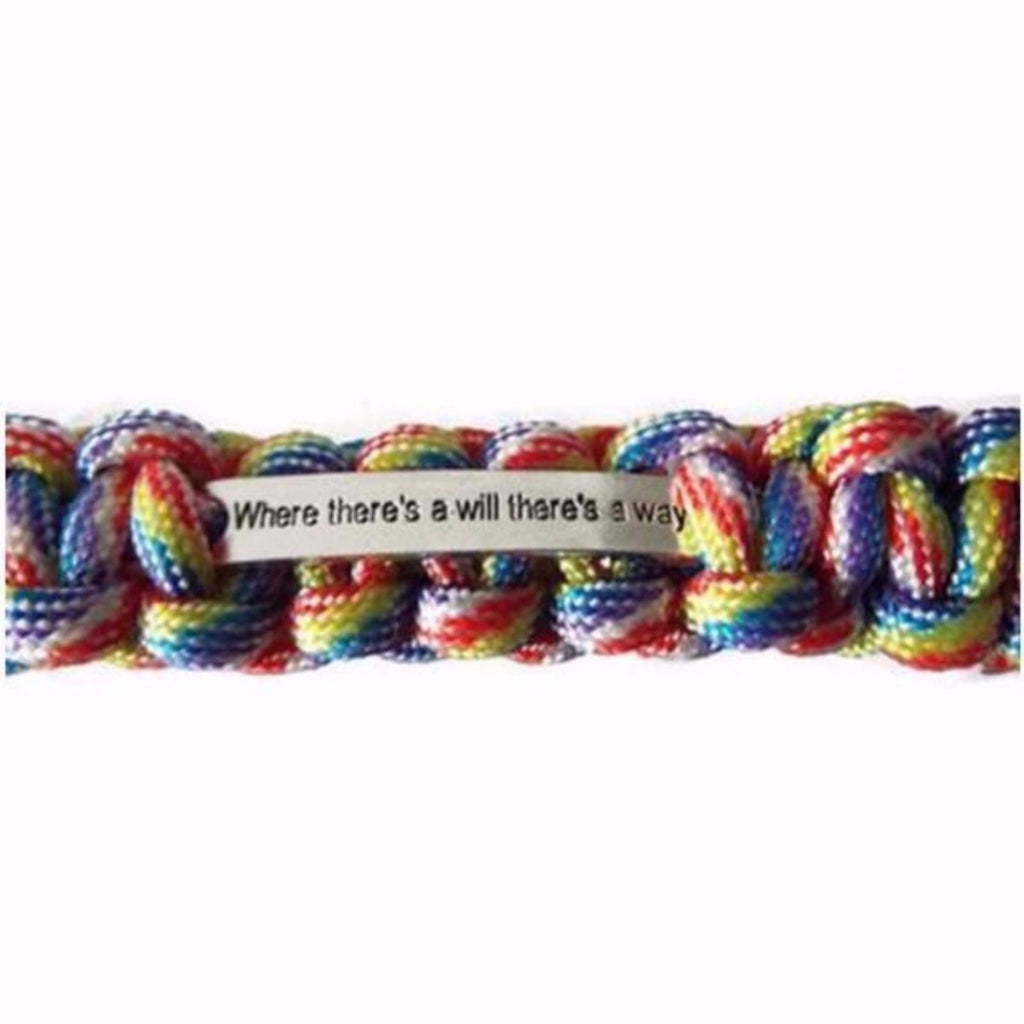 #LoveWins Paracord Bracelet, LGBT, Limited Edition, Handmade, Rainbow Bracelet - L&G Gifts and Goodies