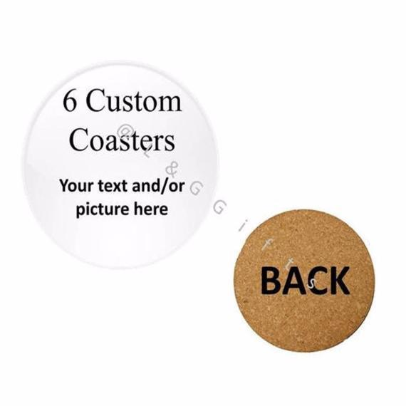 Personalized Gift Custom Set of 6 Buttons, Coasters, Magnets, or Mirrors - L&G Gifts and Goodies