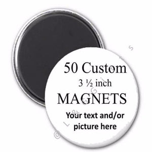 Unique Personalized Gift Custom Set of 50 Buttons, Coasters, Magnets, or Mirrors - L&G Gifts and Goodies