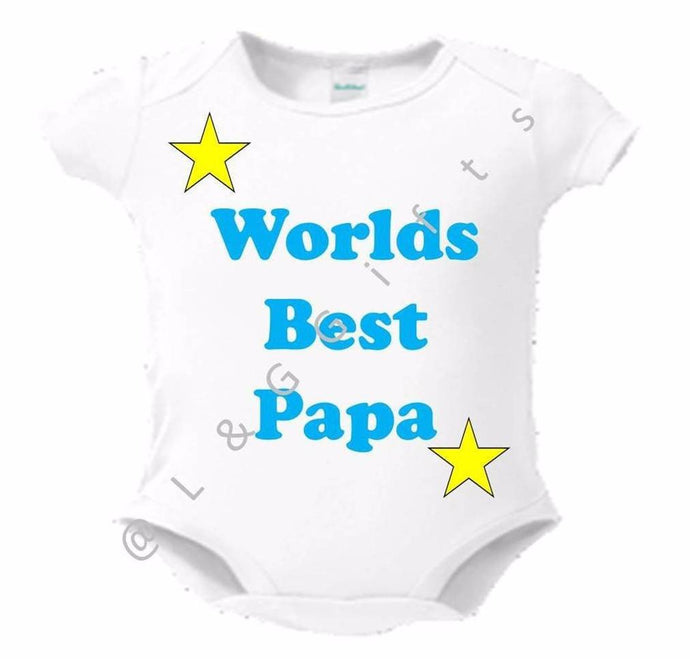 Worlds Best Papa Bodysuit or Toddler tee - L&G Gifts and Goodies