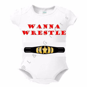 Wrestling Baby Bodysuit - L&G Gifts and Goodies