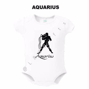 Zodiac Aquarius Sign Baby Bodysuit - L&G Gifts and Goodies