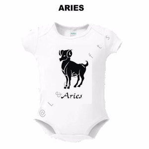 Zodiac Aries Sign Baby Bodysuit - L&G Gifts and Goodies