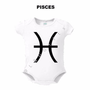Zodiac Pisces Sign Baby Bodysuit - L&G Gifts and Goodies