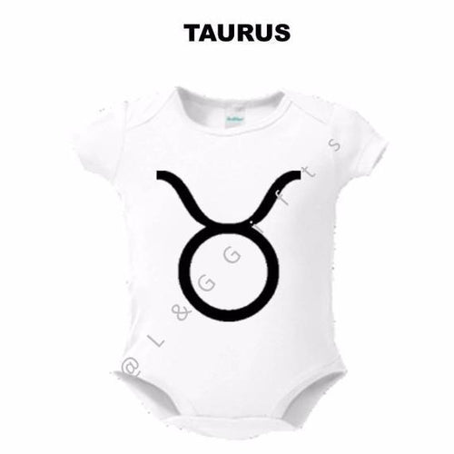 Zodiac Taurus Sign Baby Bodysuit - L&G Gifts and Goodies