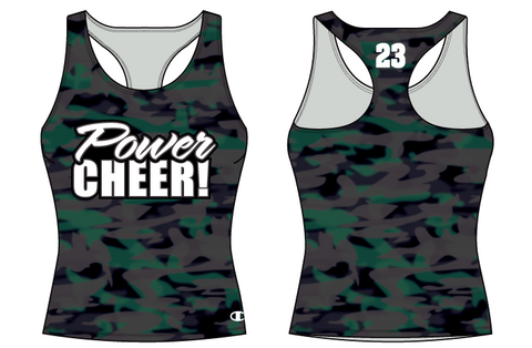 Power Cheer! Camo Practice Wear Tank