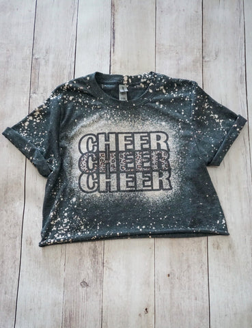 Cheer Leopard Cropped T-Shirt