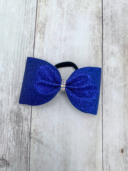 Glitter Tailless Cheer Bow