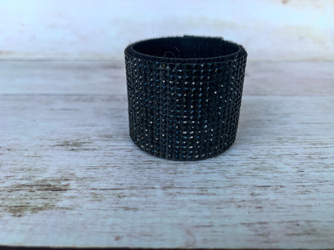 Black Rhinestone Hair cuff