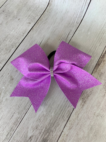 Purple Glitter Cheer Bow