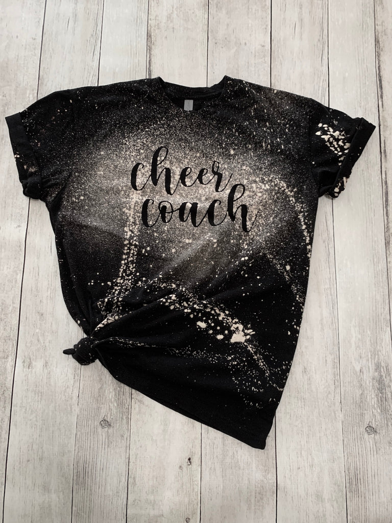 Cheer Coach Bleached Tee