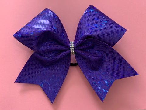 Purple Ice Cheer Bow