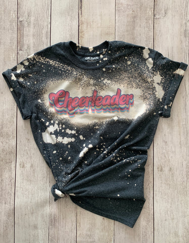Retro Cheerleader Bleached Tee