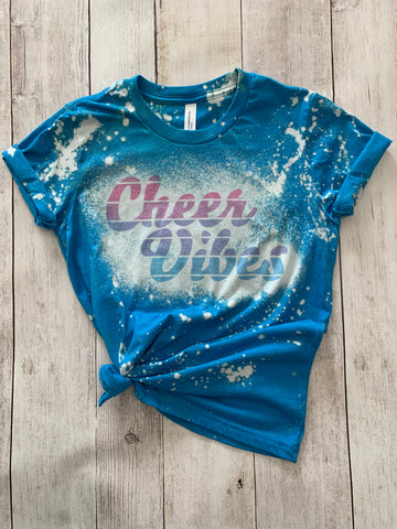 Cheer Vibes Bleached Tee