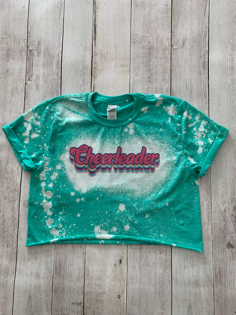 Retro Cheerleader Bleached Crop Tee