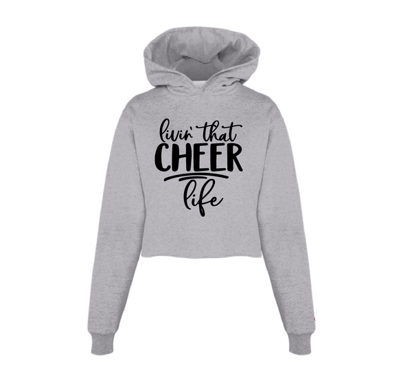 Livin' that Cheer Life Cropped Hoodie