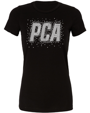 PCA Rhinestone Ladies Fitted Tee