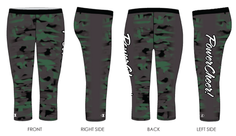 Power Cheer! Camo Capris