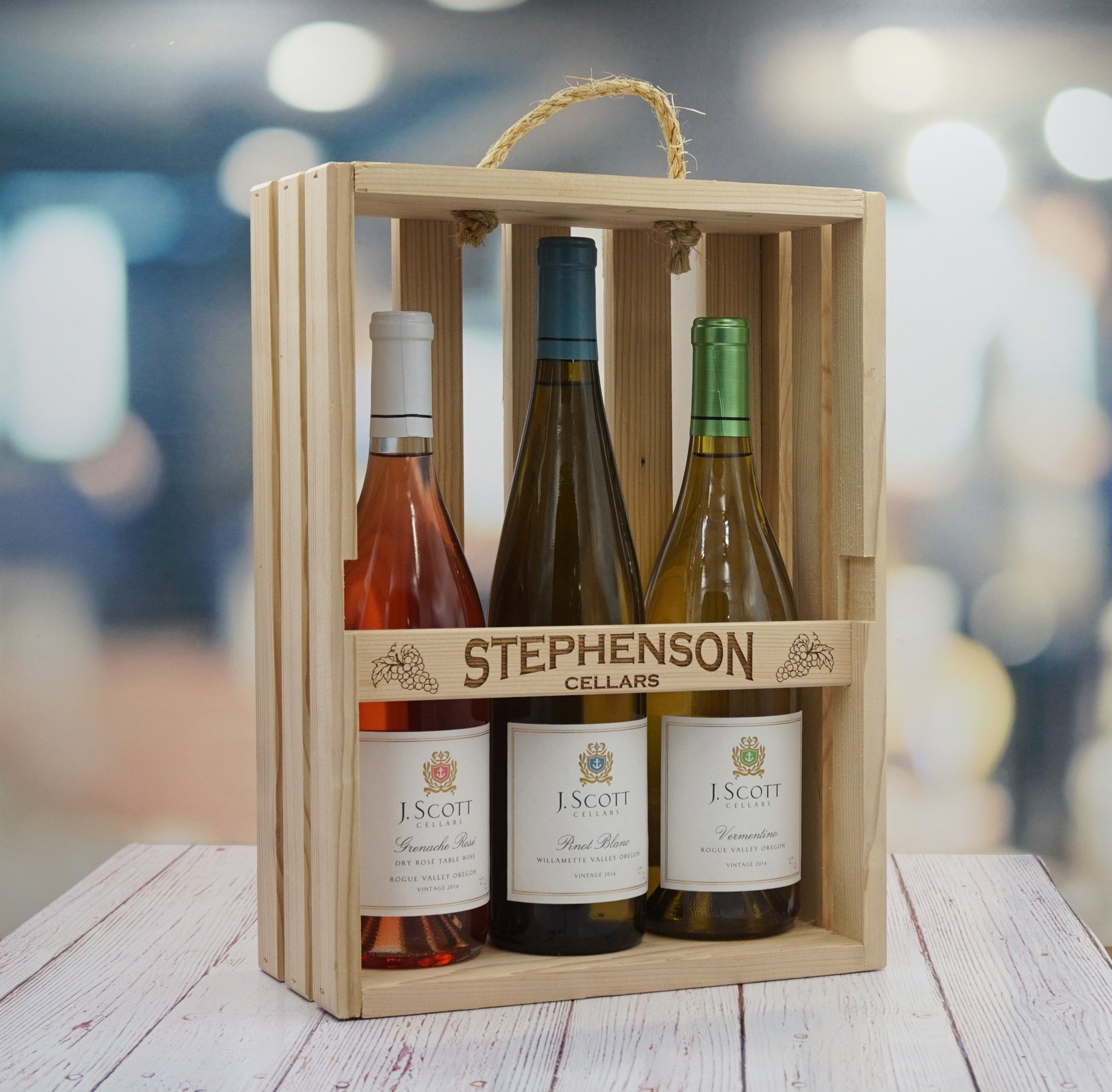 Personalized Wine Gift Box Wine Rack