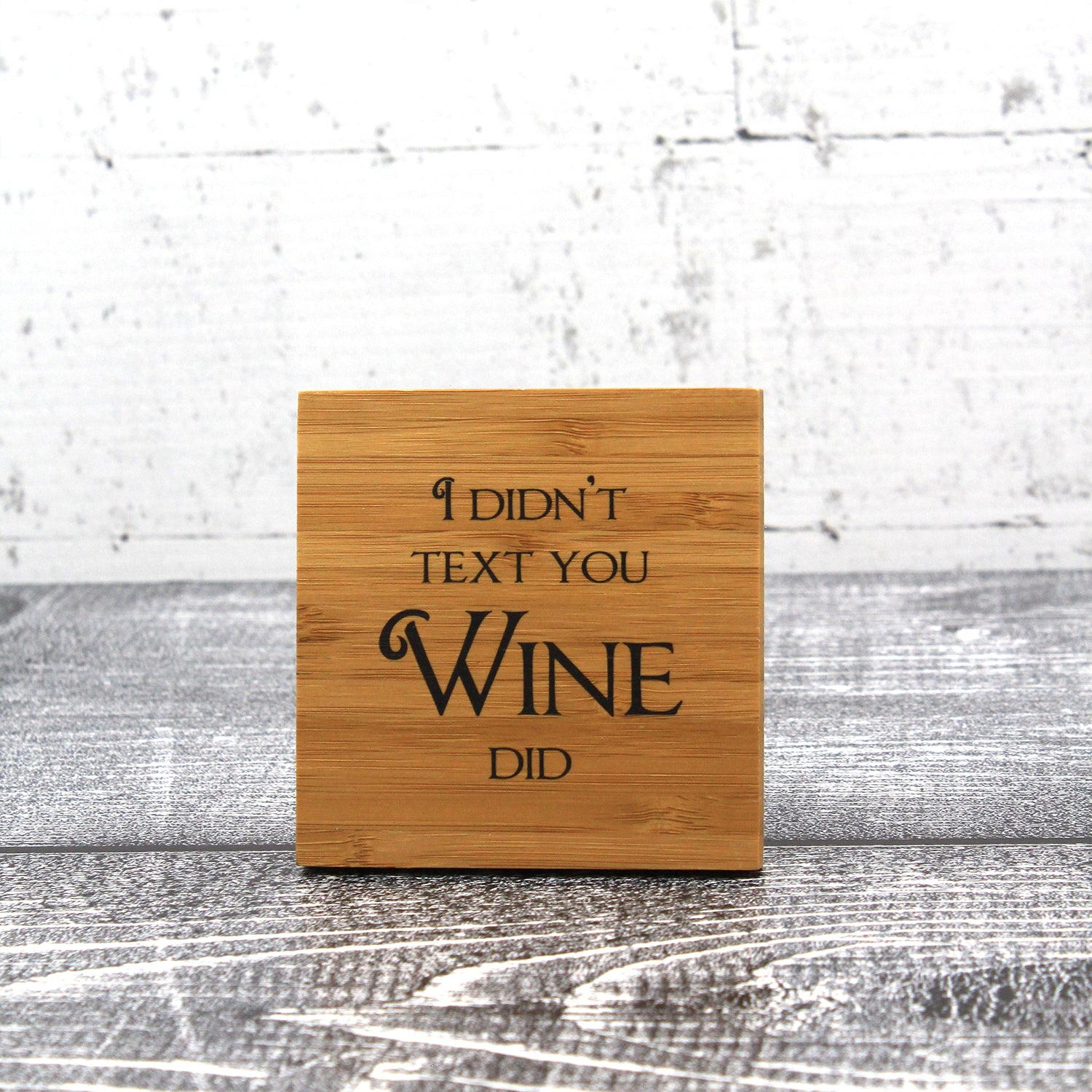 Wine Coaster Set With Funny Quotes Custom Brew Gear