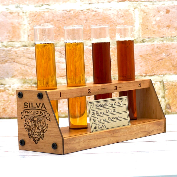 43rd Flying Squadrons Beercans: Test Tube Beer Flight-Tasting Tray