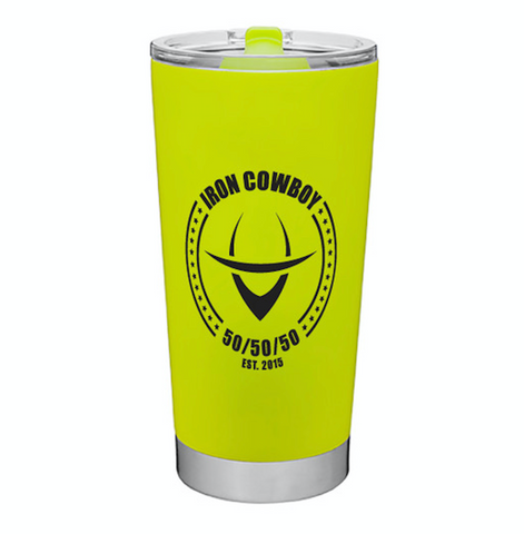 Ironcowboy Tumbler - Neon Yellow