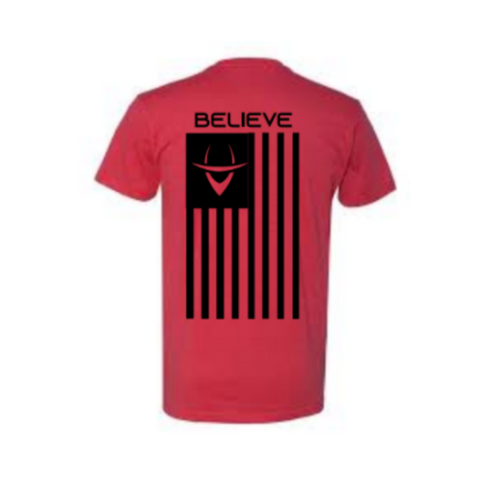 Believe Flag (Red Tee)