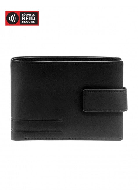 Men's RFID Secure Wallet with Coin Pocket