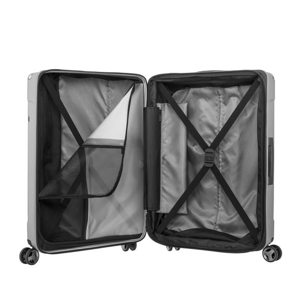 Evoa Spinner Carry On - Brushed Silver 19""