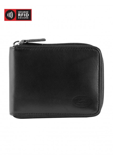 Manchester Men's Zippered Wallet with Removable Passcase