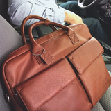 Shane Slim Leather Briefcase