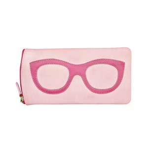 *See the Light* Leather Eye Glass Case - Pastel Pink & Hot Pink