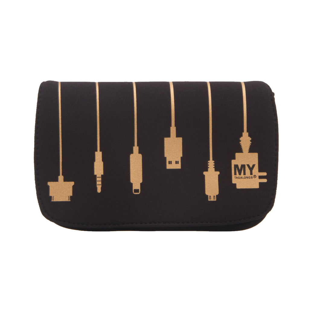 CHARGER CASE - PLUG IN BLACK & GOLD