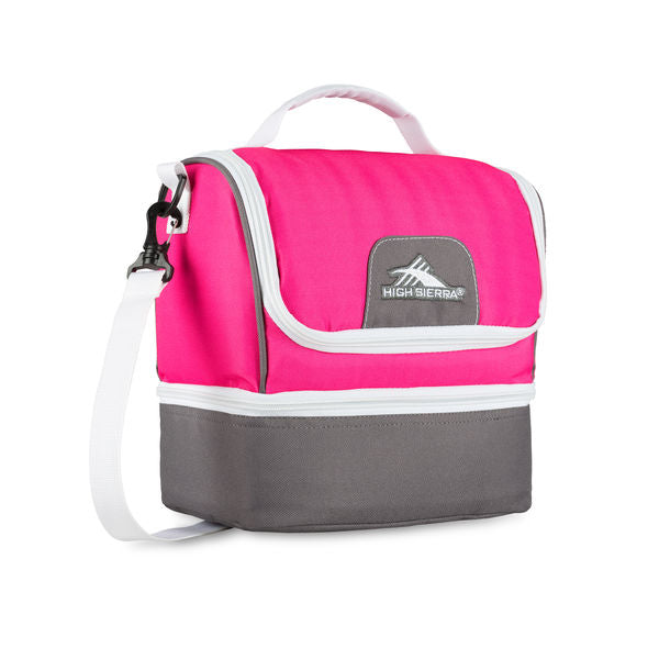 Lunch Packs Double-Decker Flamingo Charcoal White