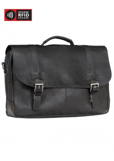 Colombian Double Compartment Briefcase