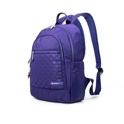 Tube Connection Checkered Shirley Nylon Backpack