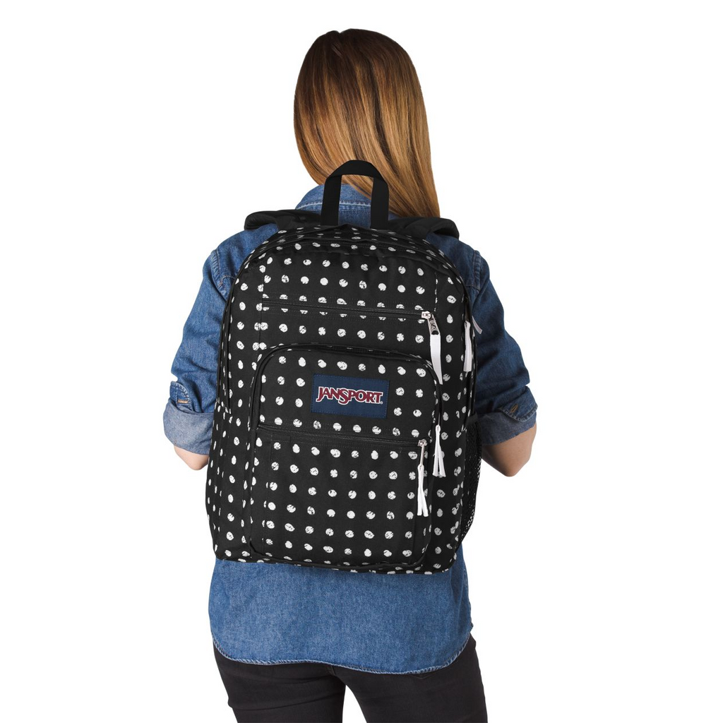 39acf0c41ea9 Jansport Big Student Backpack Black Sketch Dot – Laco Sac Boutique