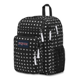 Big Student Backpack Black Sketch Dot