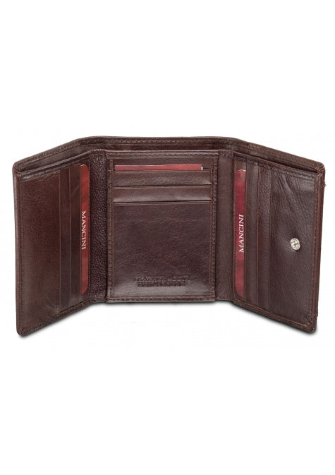 8b90677e9cd3 Mancini Equestrian 2 RFID Secure Trifold Wing Wallet Brown – Laco ...
