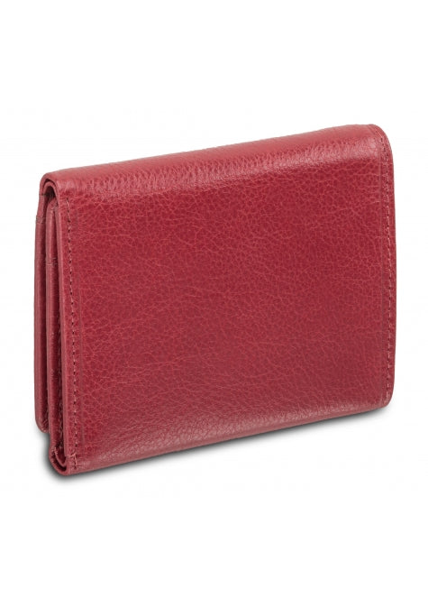Equestrian 2 RFID Secure Trifold Wing Wallet RED
