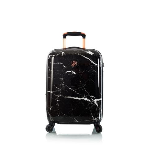 Marquina Spinner Carry-On Black Marble Fashion 21""