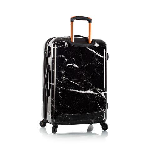 Marquina Spinner Medium Black Marble Fashion 26""